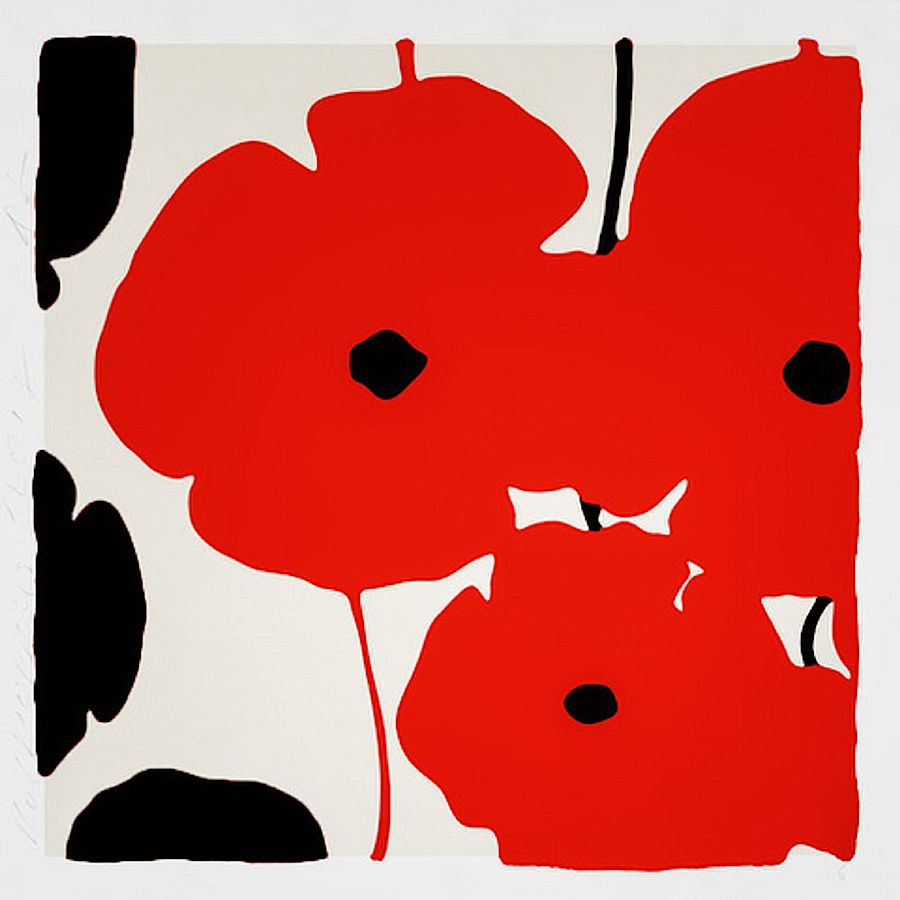 Korff Stiftung - Donald Sultan - Grafiken - Red and Black Poppies