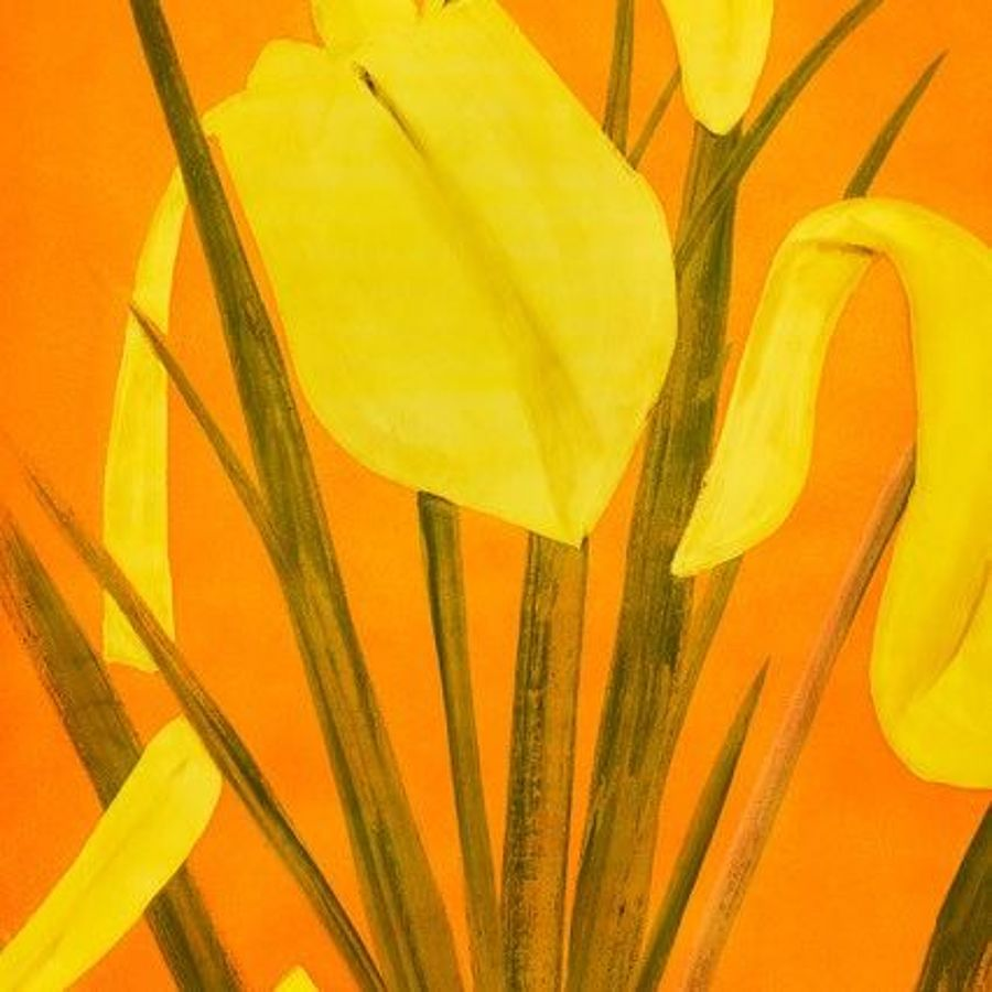 Korff Stiftung - Alex Katz - Grafiken - Yellow flags 4