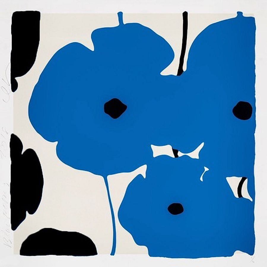 Korff Stiftung - Donald Sultan - Grafiken - Blue and Black Poppies