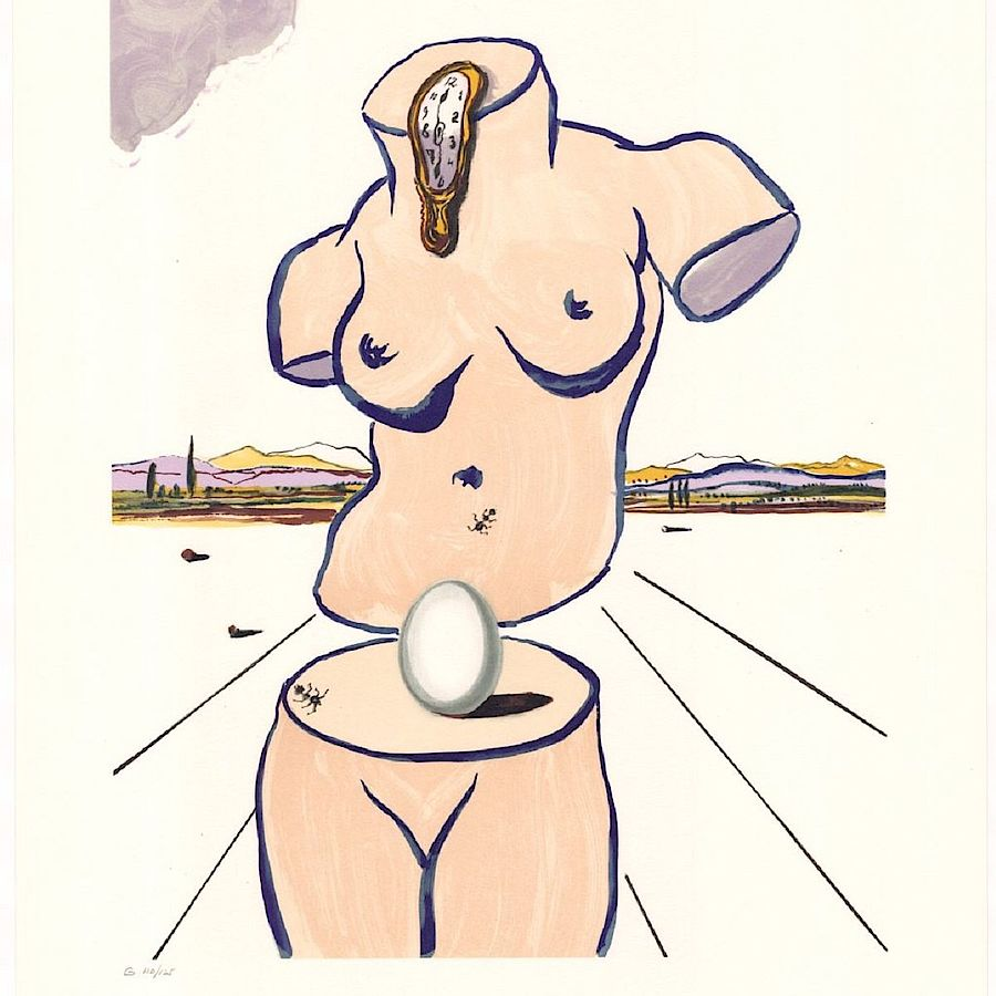 Korff Stiftung - Salvador Dali - Graphics - Birth of Venus (Torso)