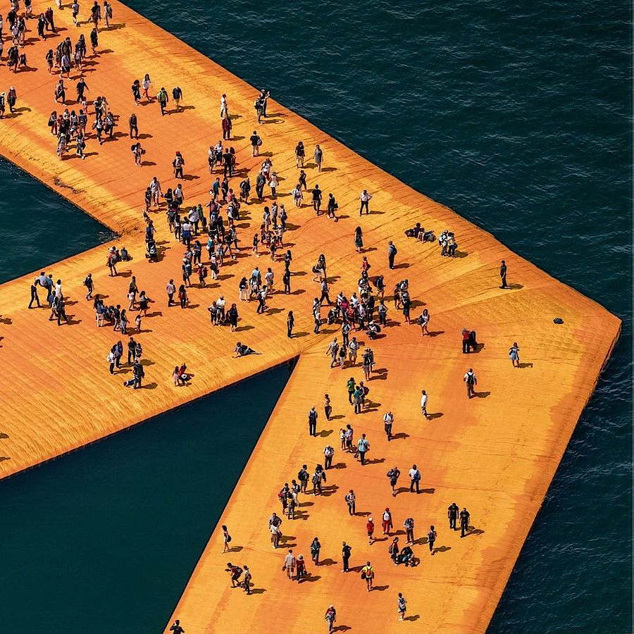 Korff Stiftung - Christo - Grafiken - The Floating Piers