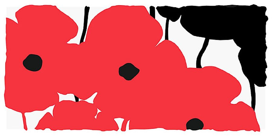 Korff Stiftung - Donald Sultan - Graphics - Big Red and Black Poppies