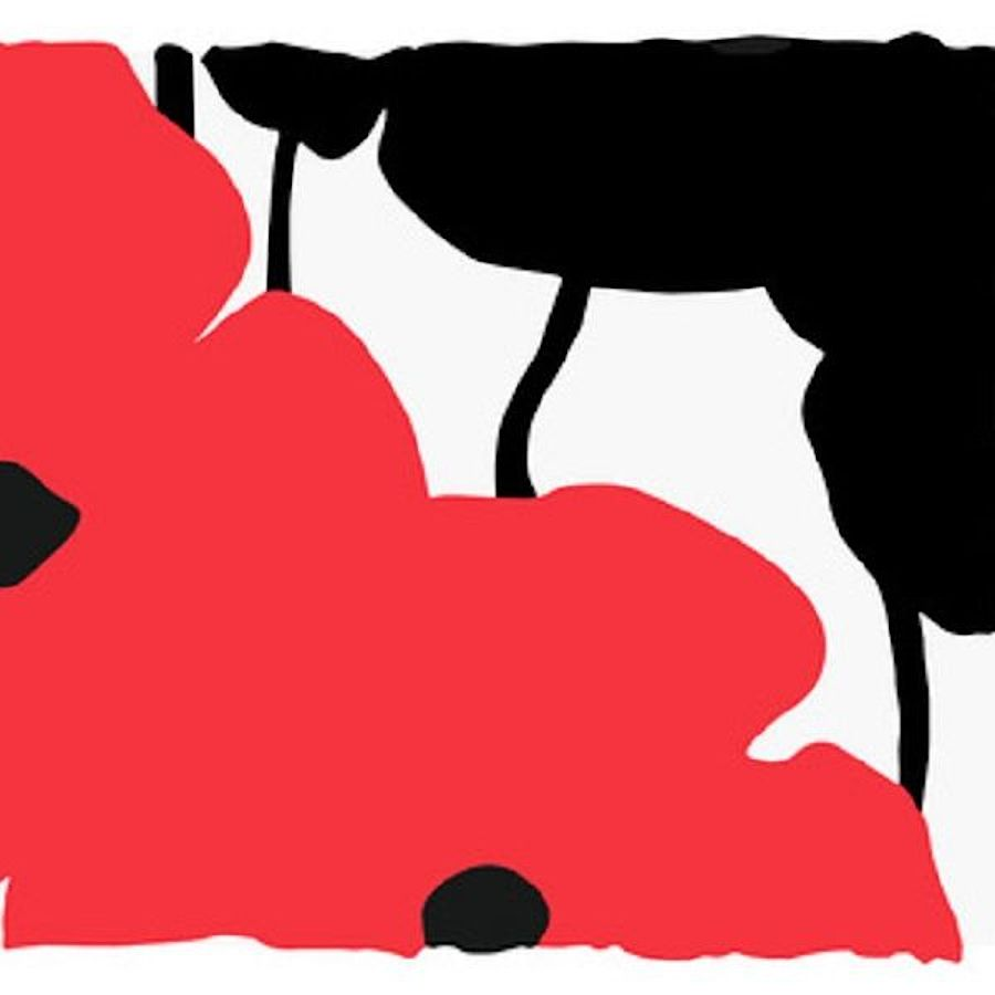 Korff Stiftung - Donald Sultan - Grafiken - Big Red and Black Poppies