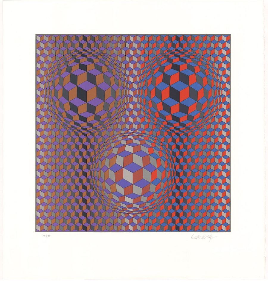 Korff Stiftung - Victor Vasarely - Graphics - Konjunktion