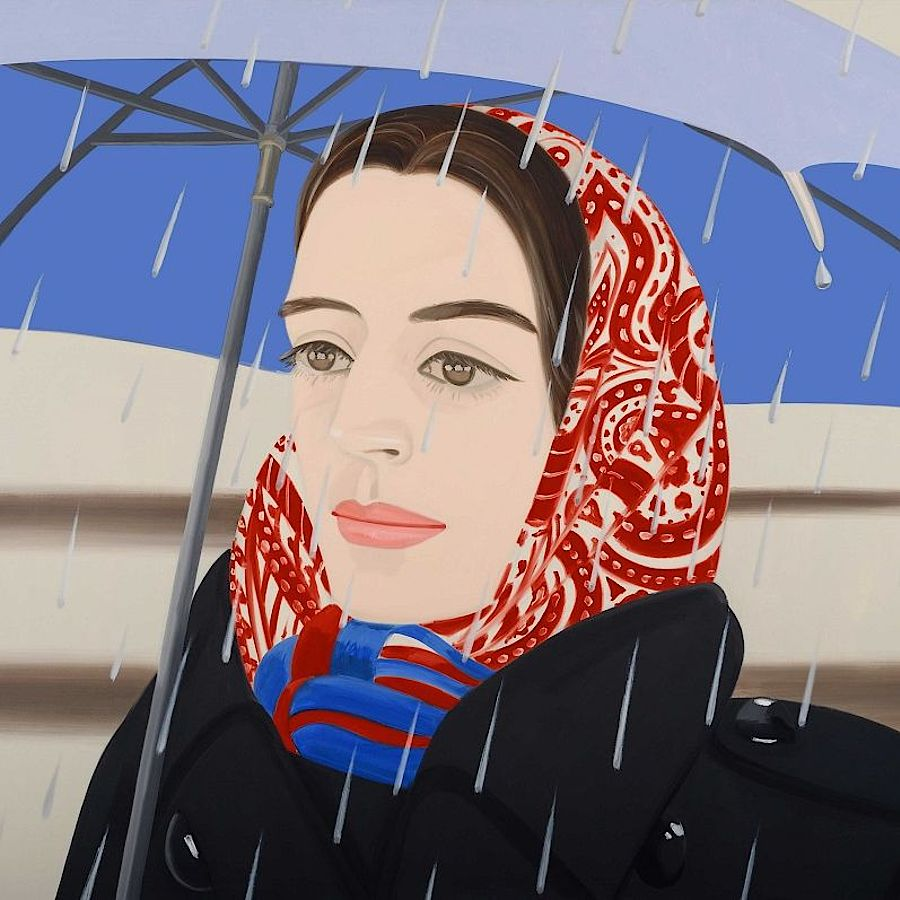 Korff Stiftung - Alex Katz - Graphics - Blue Umbrella 2