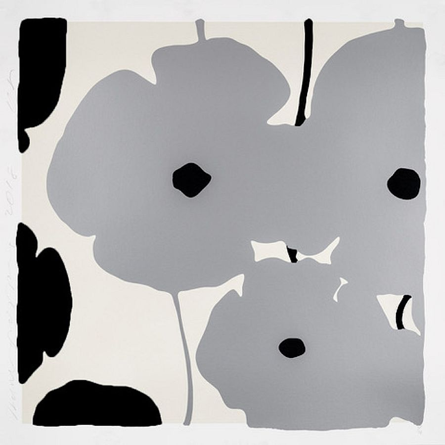 Korff Stiftung - Donald Sultan - Graphics - Silver & Black Poppies