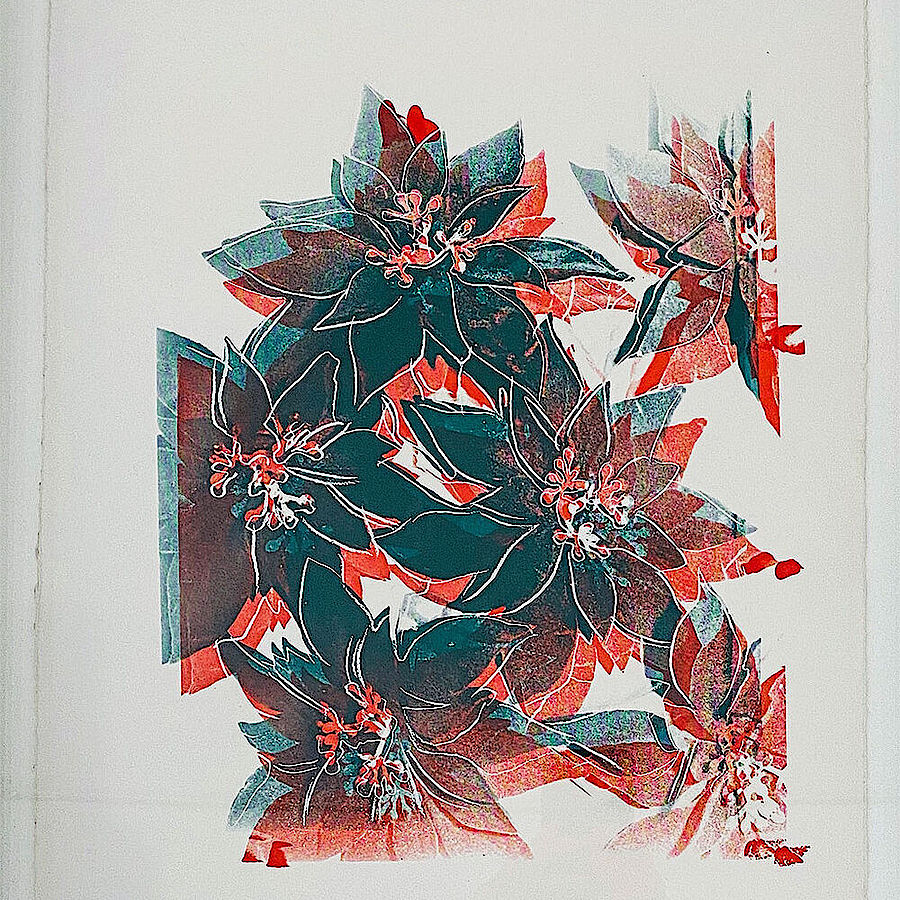 Korff Stiftung - Andy Warhol - Unique Works - Poinsettias