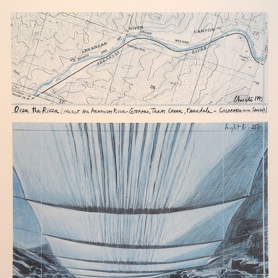 Korff Stiftung - Christo - Grafiken - Over the River I, under