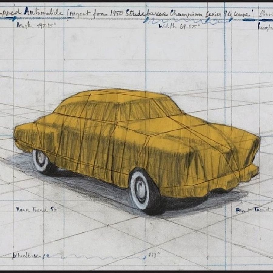 Korff Stiftung - Christo - Grafiken - Wrapped Automobile