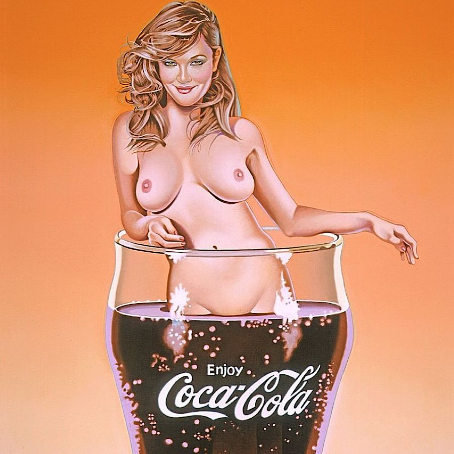 Korff Stiftung - Mel Ramos - Grafiken - The pause that refreshes #2 (Lola Cola)