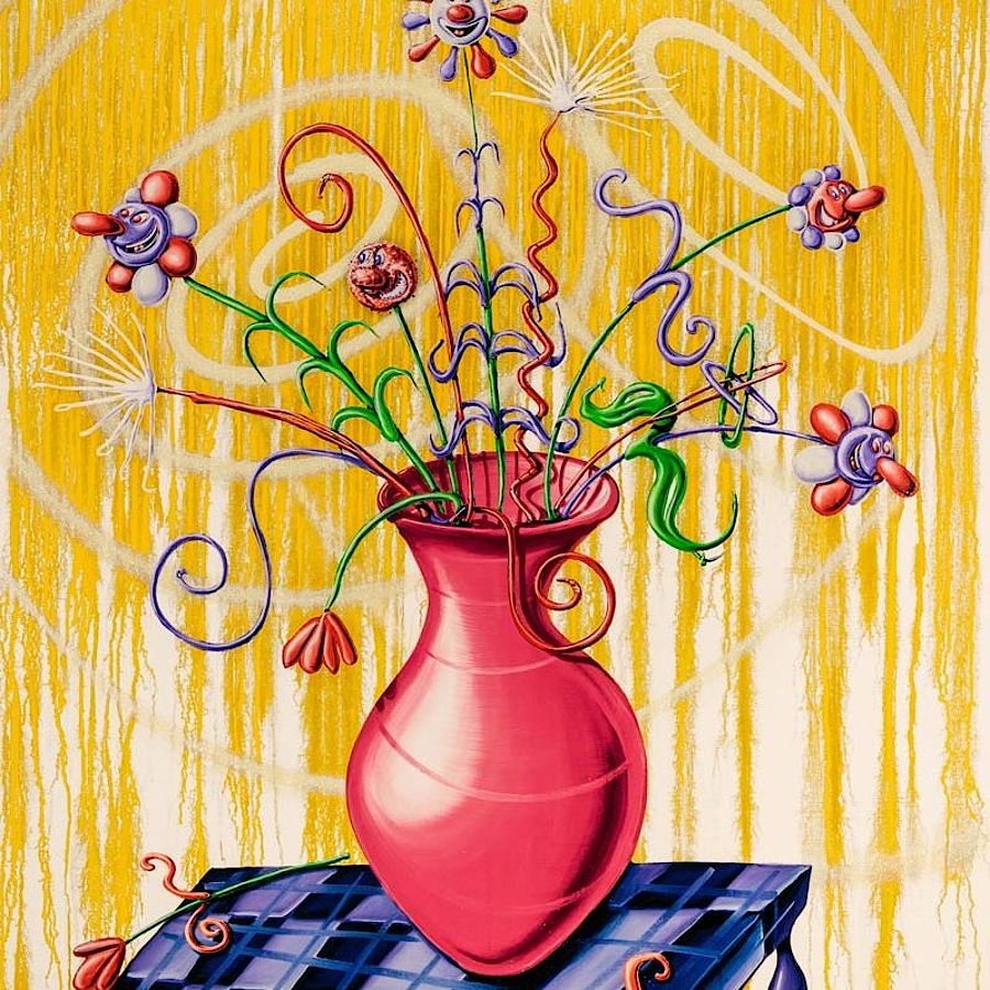 Korff Stiftung - Kenny Scharf - Graphics - Flores Yellow