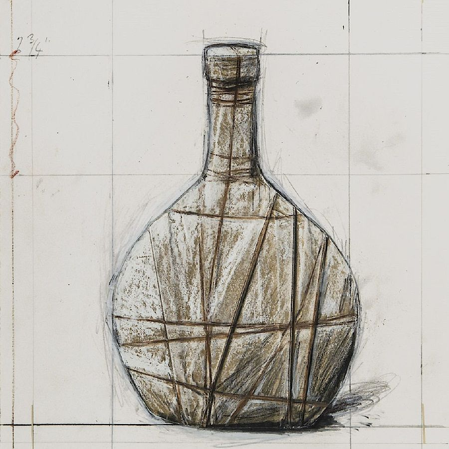 Korff Stiftung - Christo - Grafiken - Wrapped Bottle