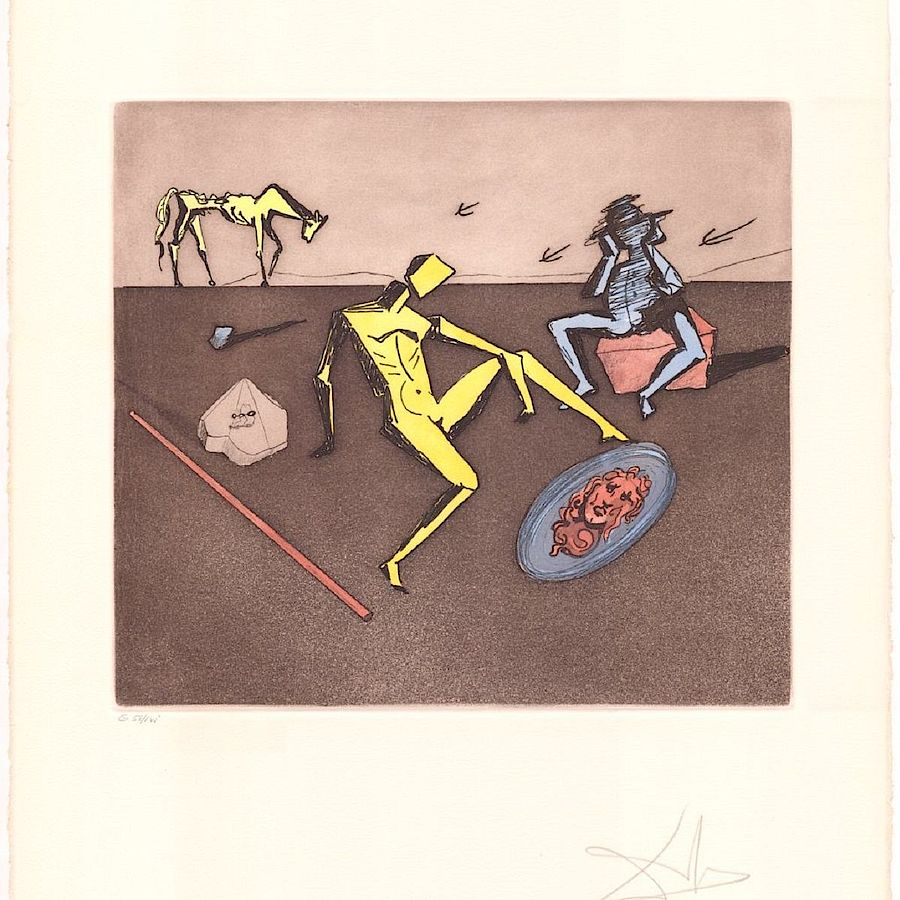 Korff Stiftung - Salvador Dali - Graphics - Mirror Of Chivalry