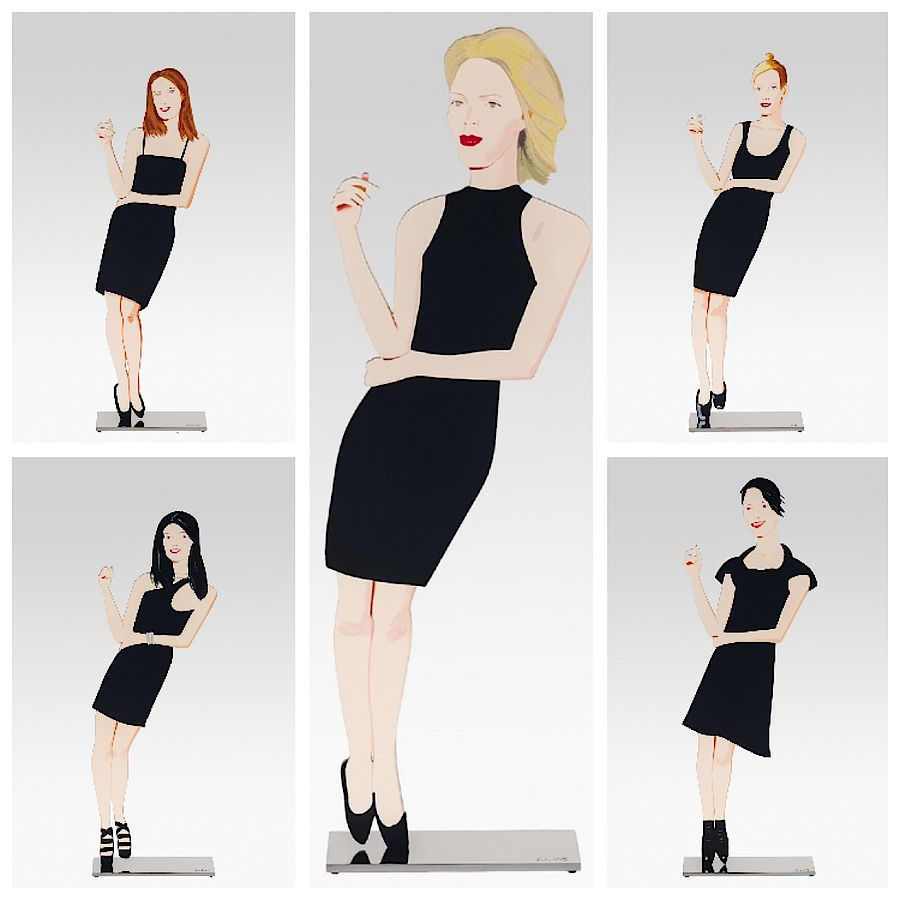 Korff Stiftung - Alex Katz - Sculptures - Black Dress Cutouts