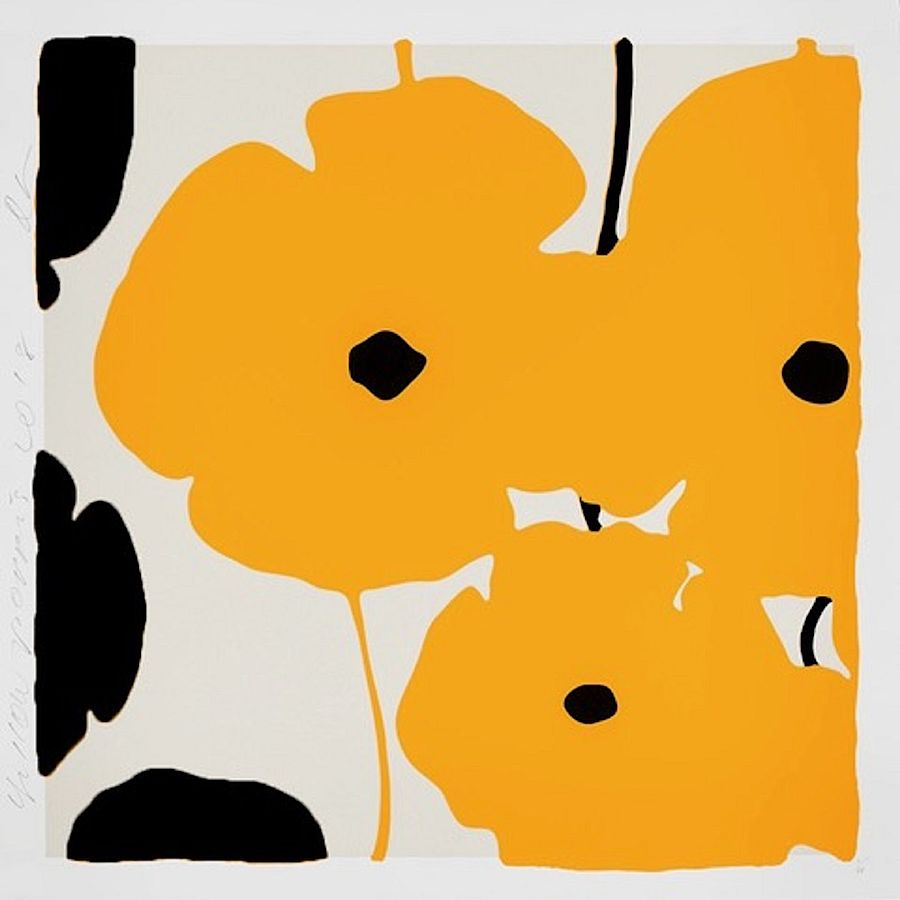 Korff Stiftung - Donald Sultan - Grafiken - Yellow and Black Poppies